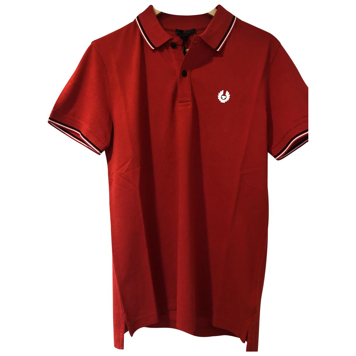 Belstaff - Polos   pour homme en coton - rouge