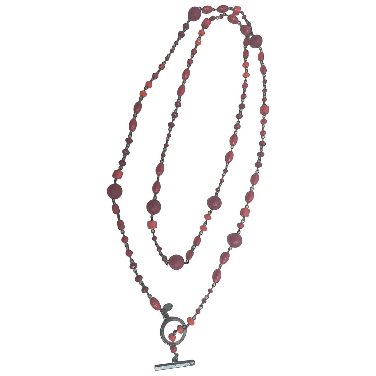 Furla - Collier   pour femme en metal - rouge