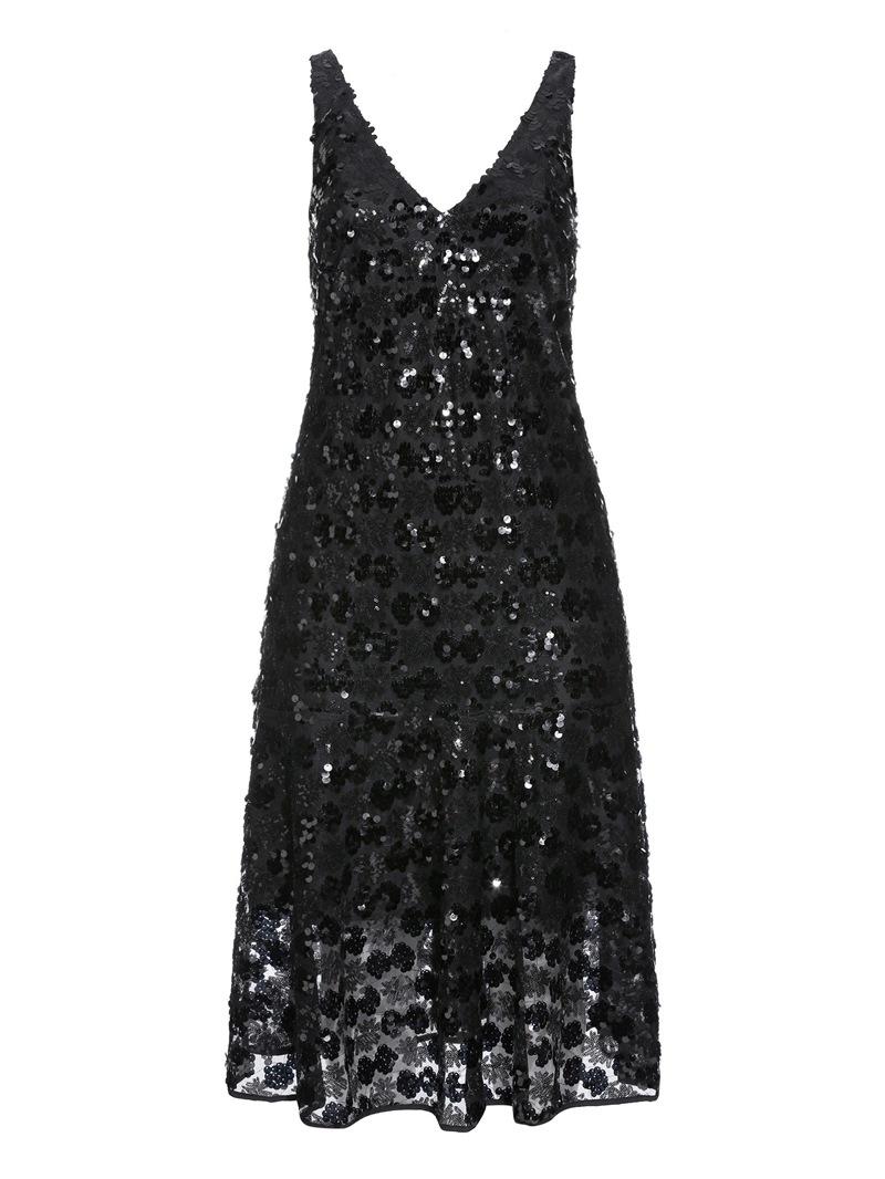 Ericdress Sleeveless V-Neck Mid-Calf Date Night/Going Out A-Line Dress