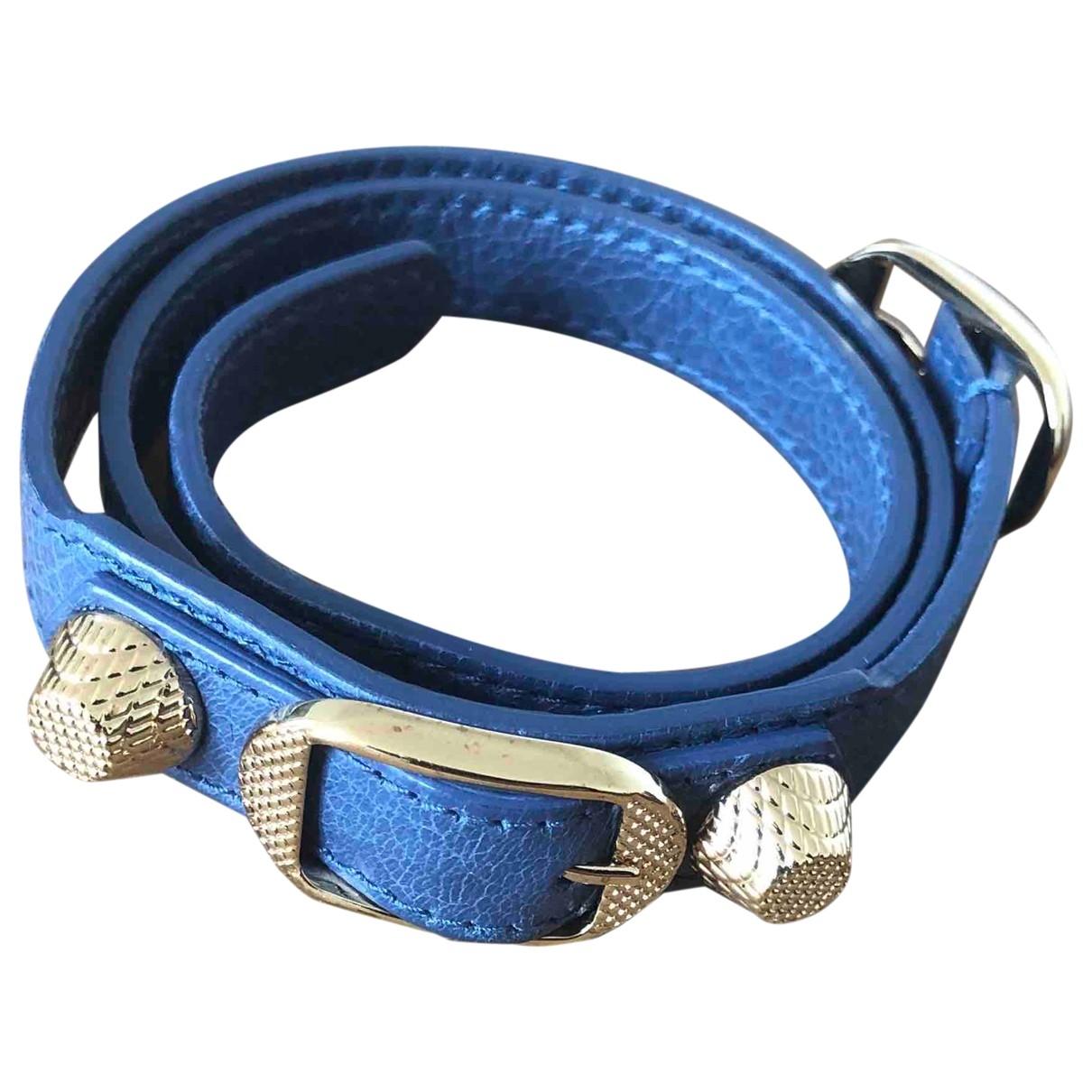 Balenciaga \N Armband in  Blau Leder
