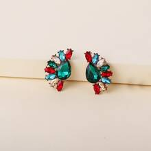 Rhinestone Decor Stud Earrings
