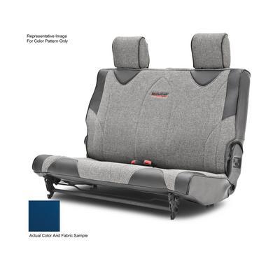 MasterCraft Safety Fold & Tumble Rear Seat Slip Cover, DirtSport Stitch (Black/Blue) - 702633