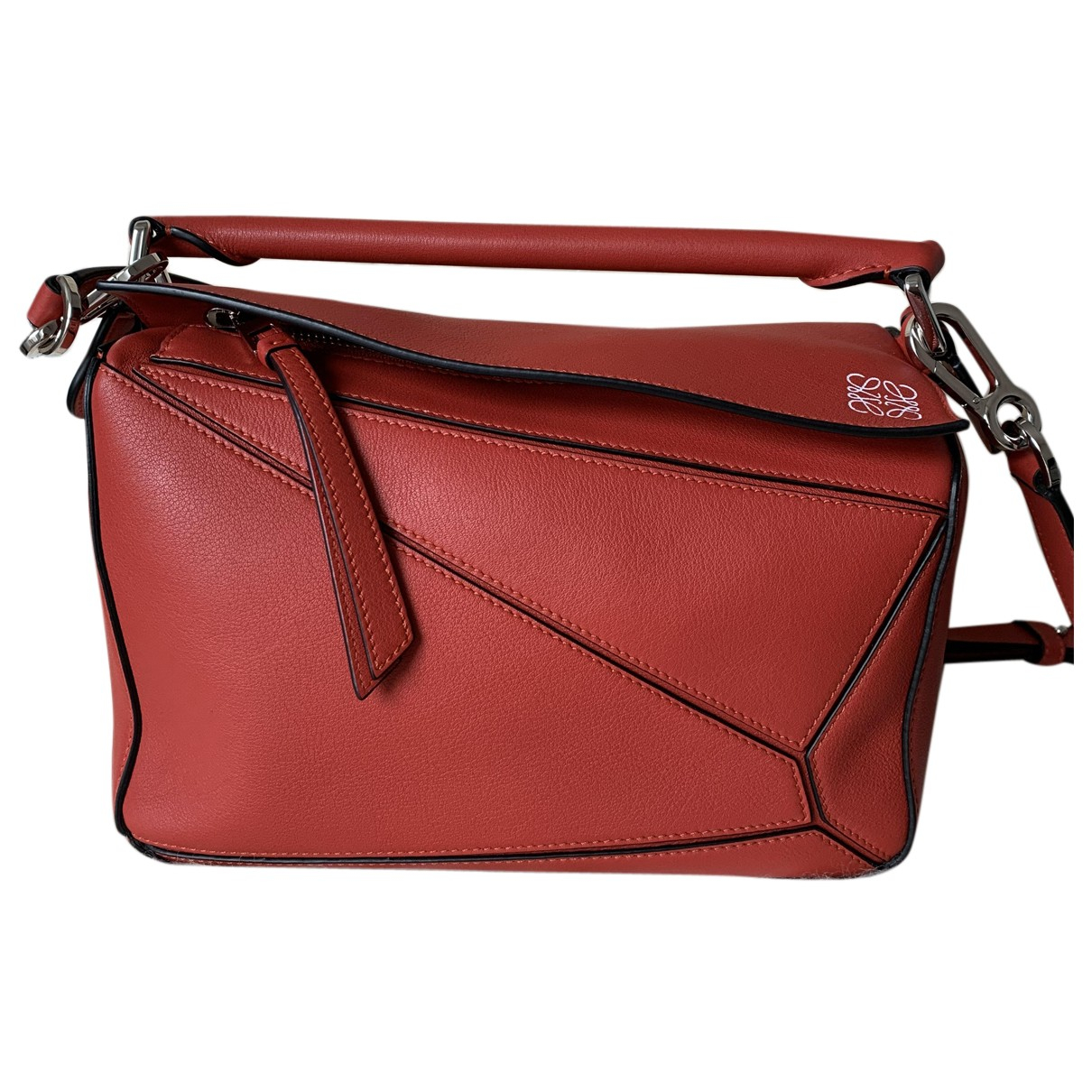 Loewe Puzzle  Red Leather handbag for Women N