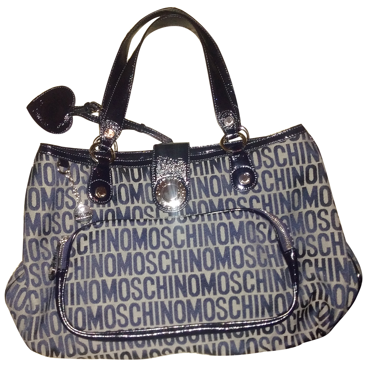 Moschino Love \N Blue Patent leather handbag for Women \N