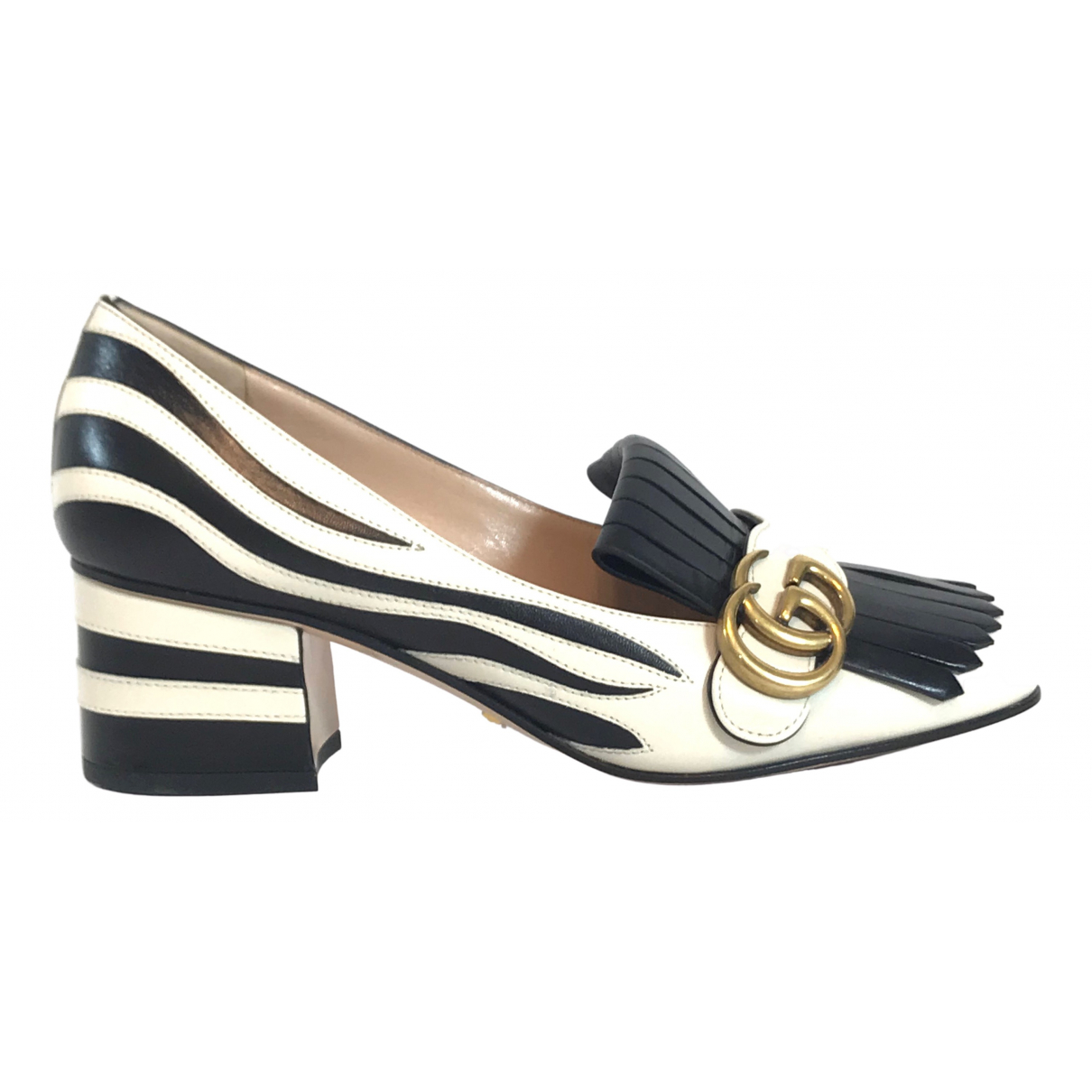 Gucci Marmont Pumps in  Beige Fell