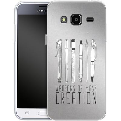Samsung Galaxy J3 (2016) Silikon Handyhuelle - Weapons Of Mass Creation von Bianca Green