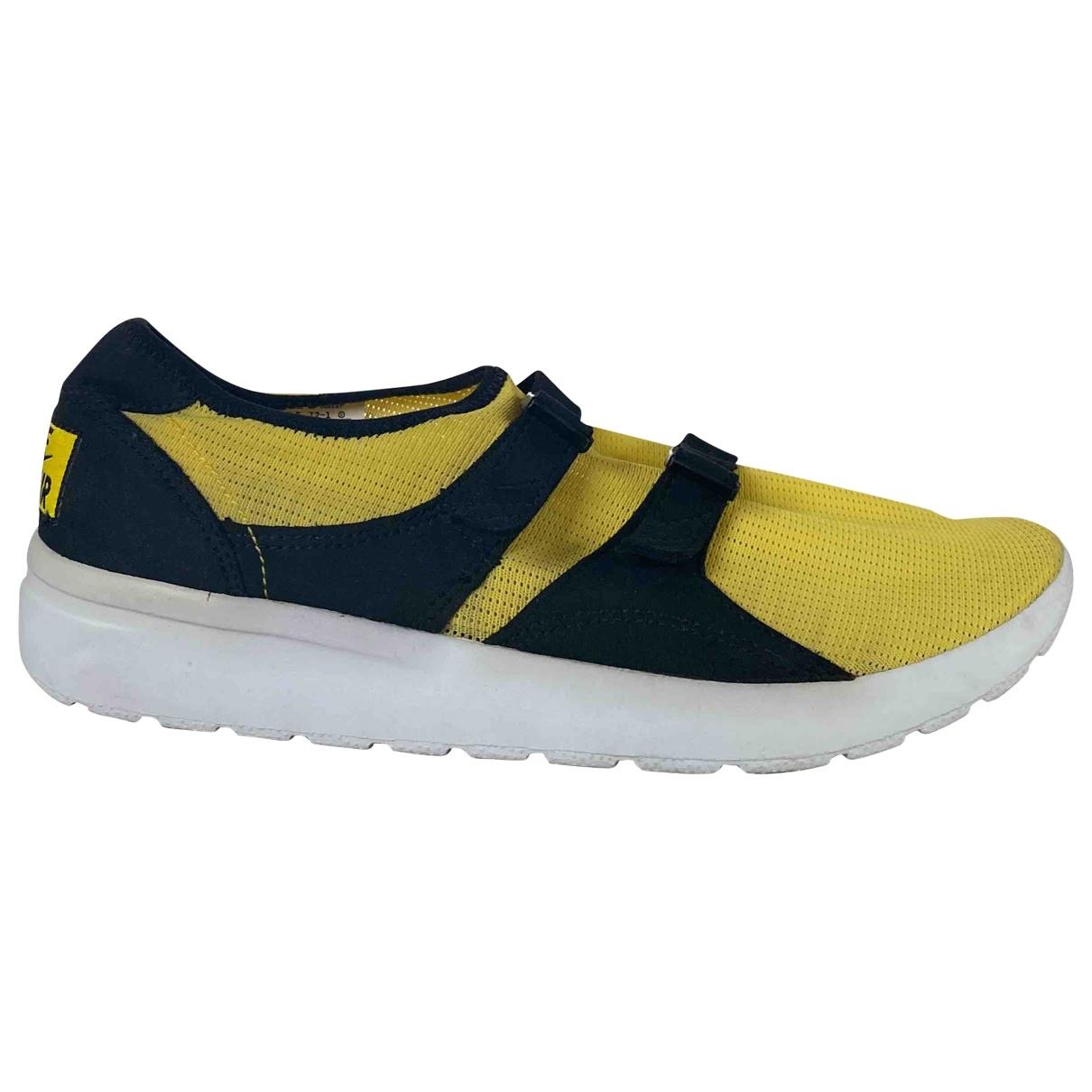 Nike - Baskets   pour homme en toile - jaune