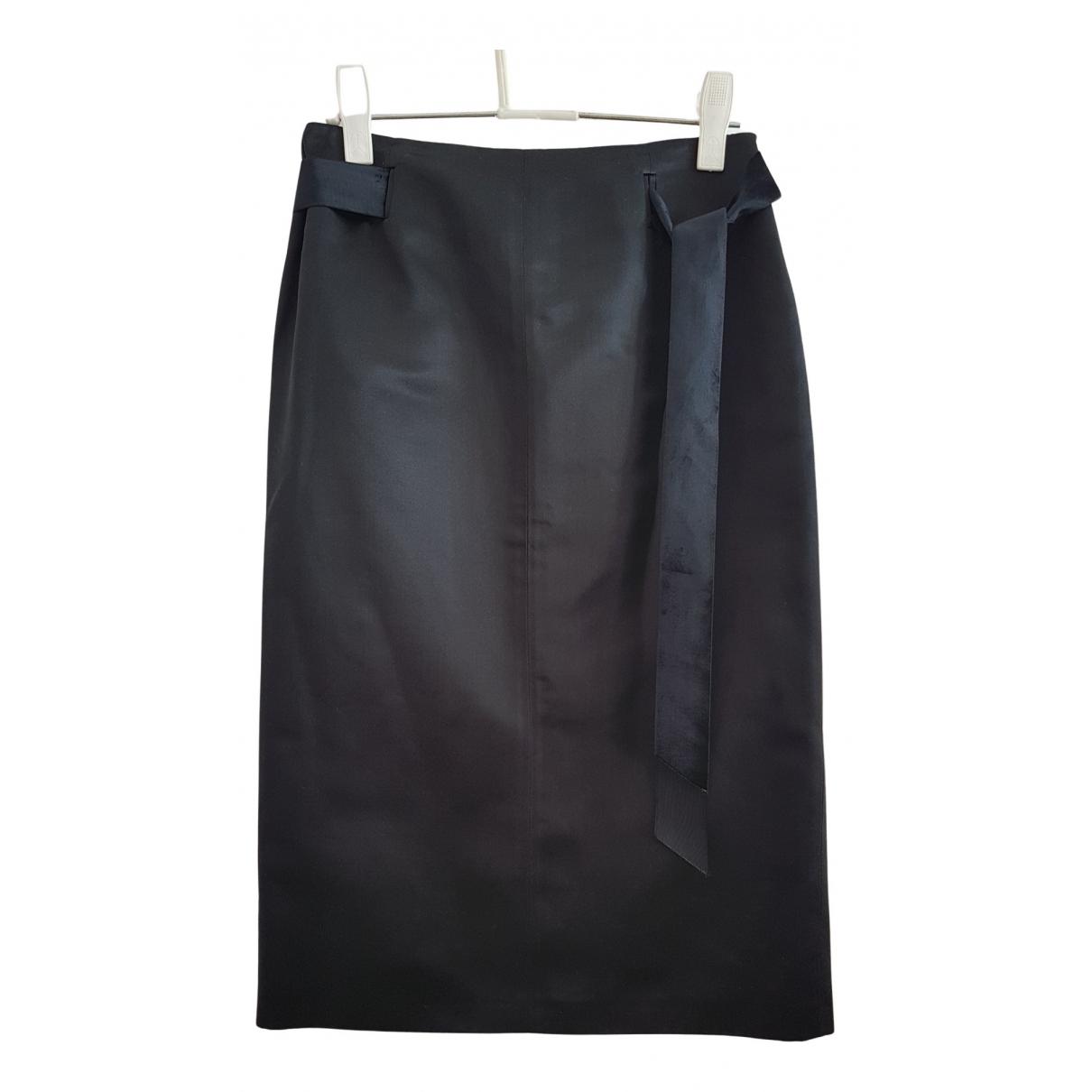 Blumarine N Black Silk skirt for Women 42 IT