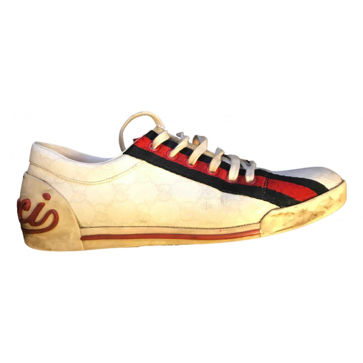 Gucci \N Sneakers in  Weiss Leder