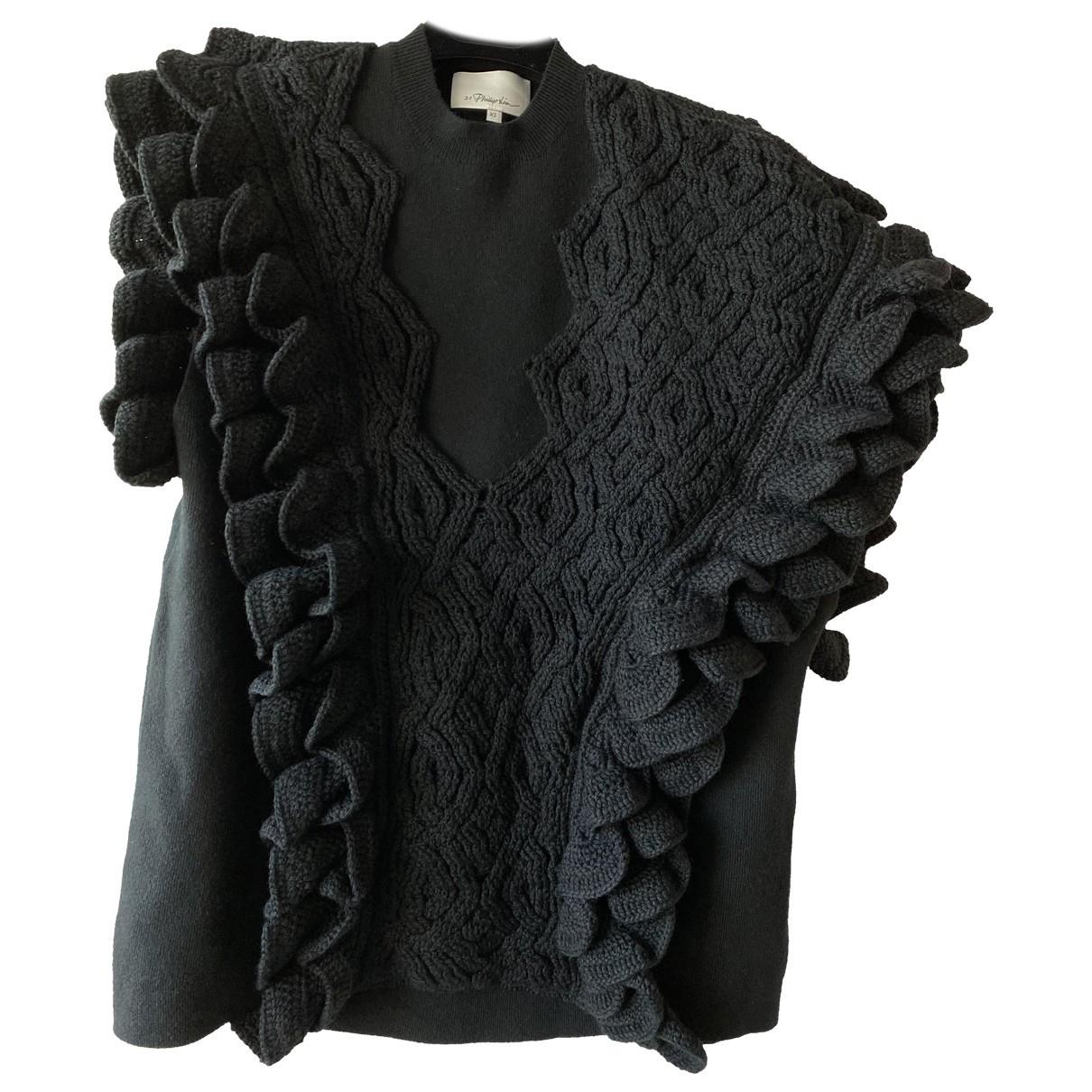 3.1 Phillip Lim - Pull   pour femme en laine - noir