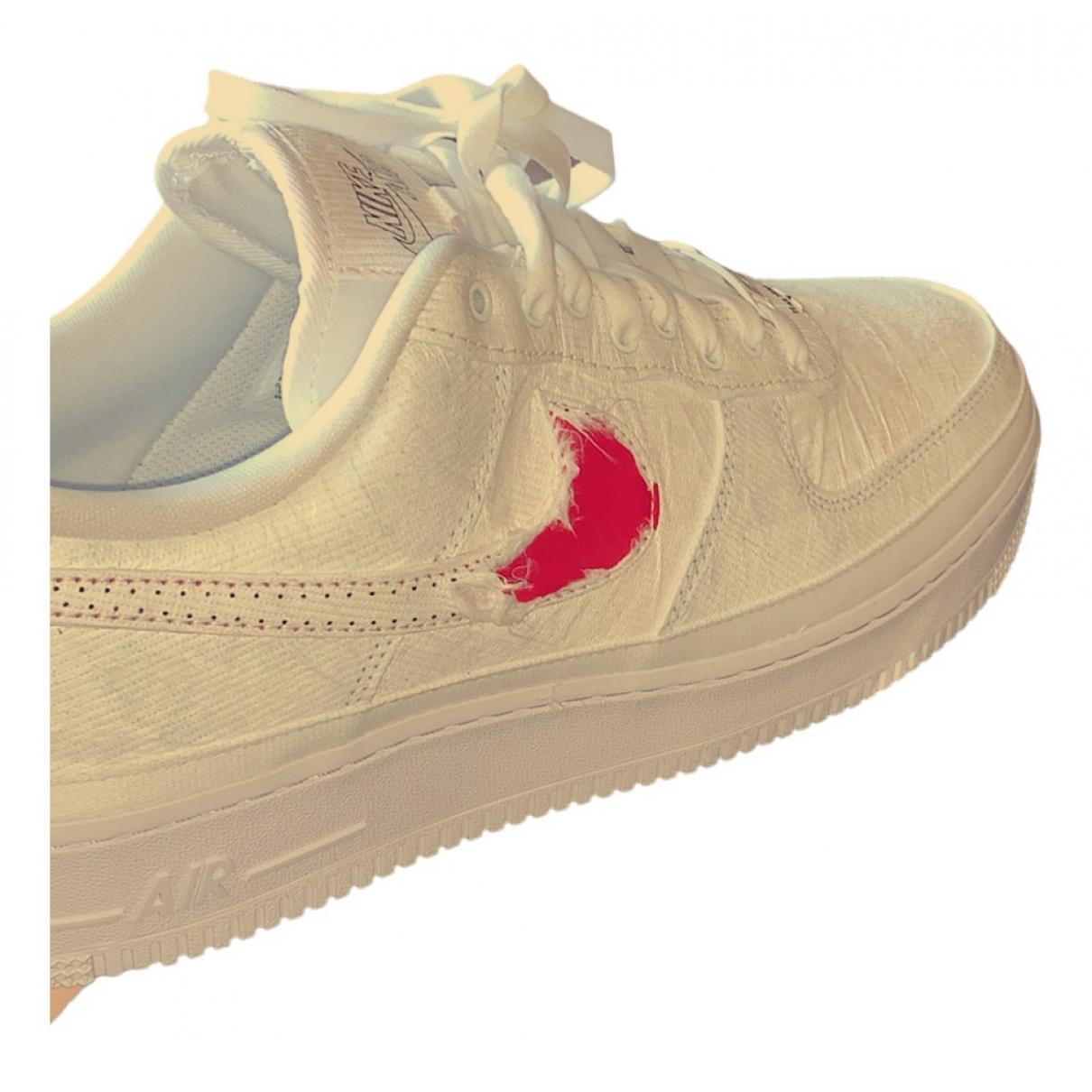 Nike - Baskets Air Force 1 pour homme en toile - blanc