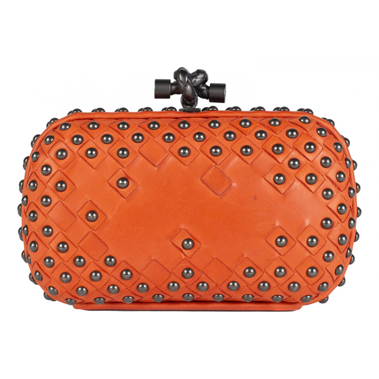 Bottega Veneta Pochette Knot Clutch in  Orange Leder