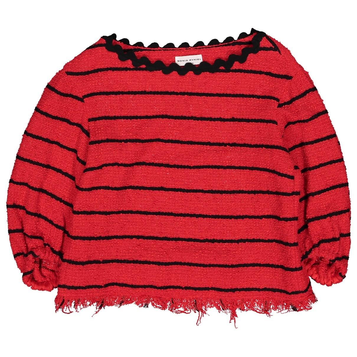 Sonia Rykiel - Pull   pour femme en coton - rouge