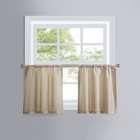 JCPenney Verona Rod-Pocket Window Tiers, One Size , Beige