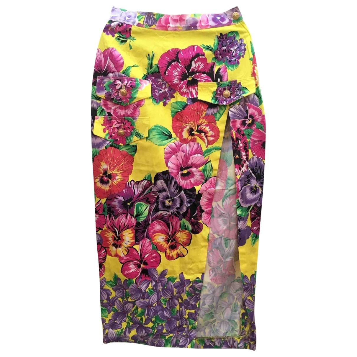 Versace - Jupe   pour femme en coton - multicolore