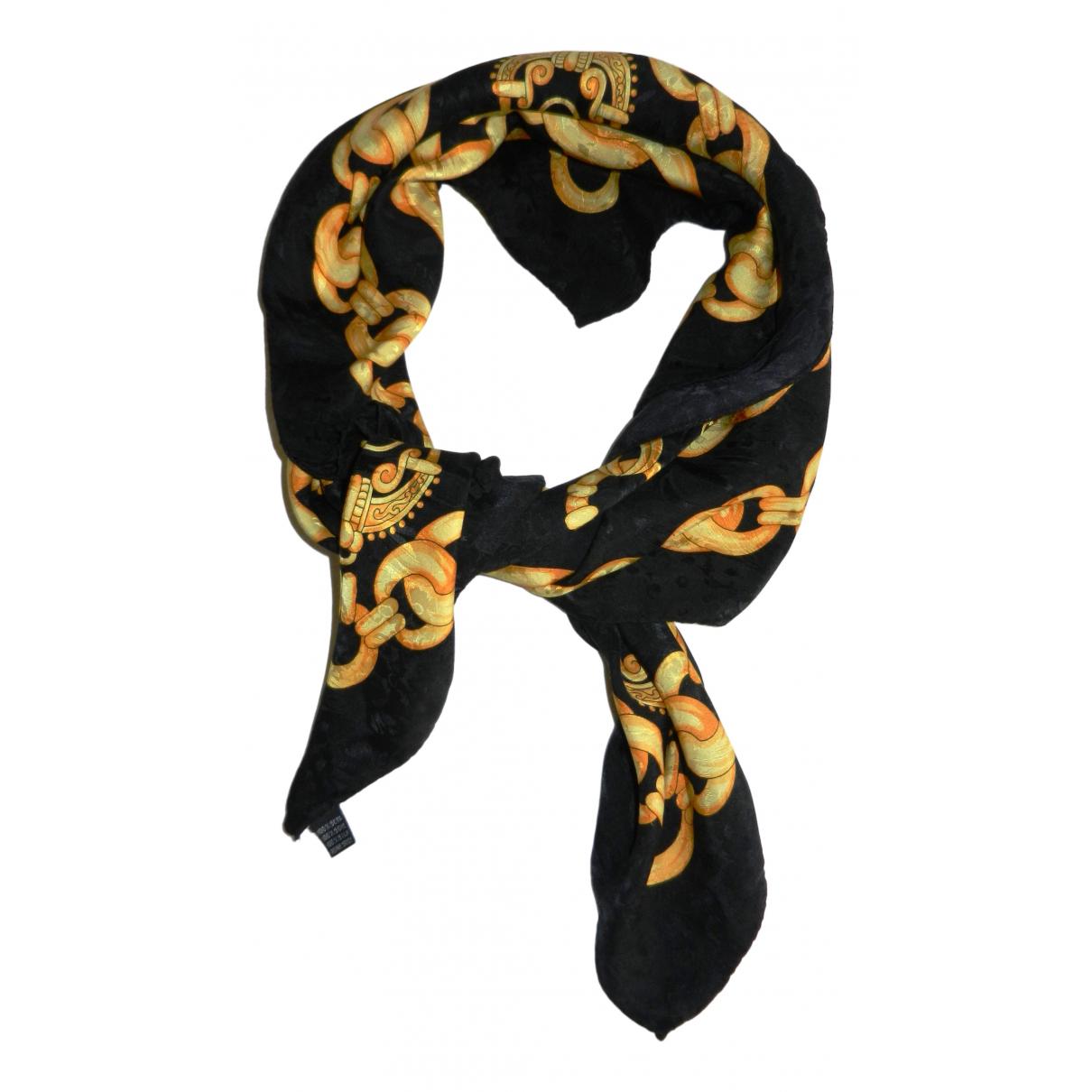 Non Signé / Unsigned \N Black Silk Silk handkerchief for Women \N