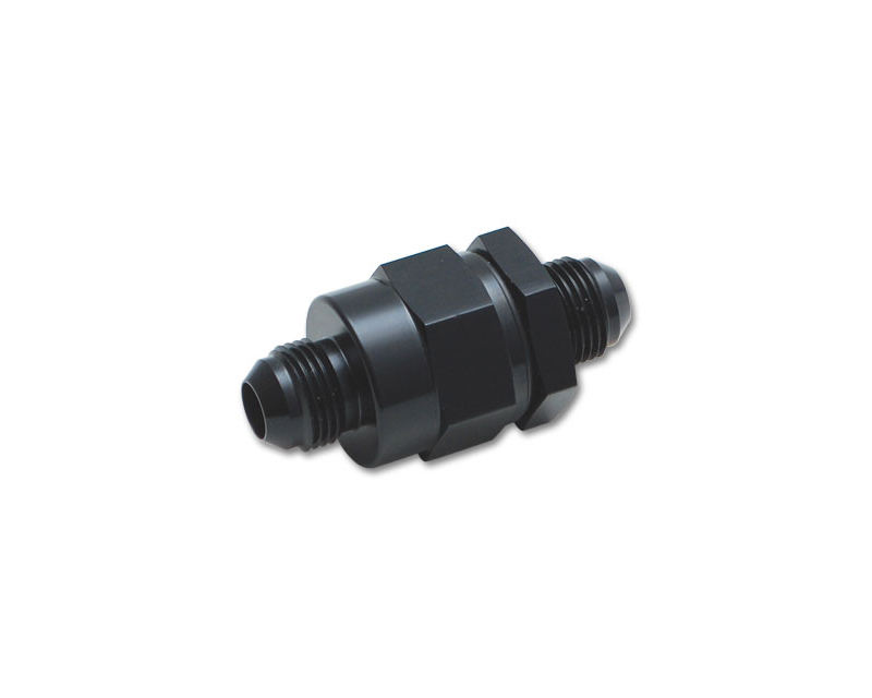 Vibrant Performance 11190 Anodized Black One Way Check Valve with Integrated -8AN Male Flare Fitting