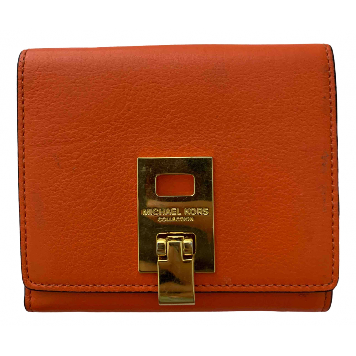 Michael Kors - Portefeuille   pour femme en cuir - orange