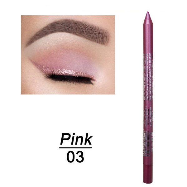 14 Colors Shiny Pearlescent Eyeliner Pen Long-lasting Waterproof Eye Shadow Pen Eye Makeup