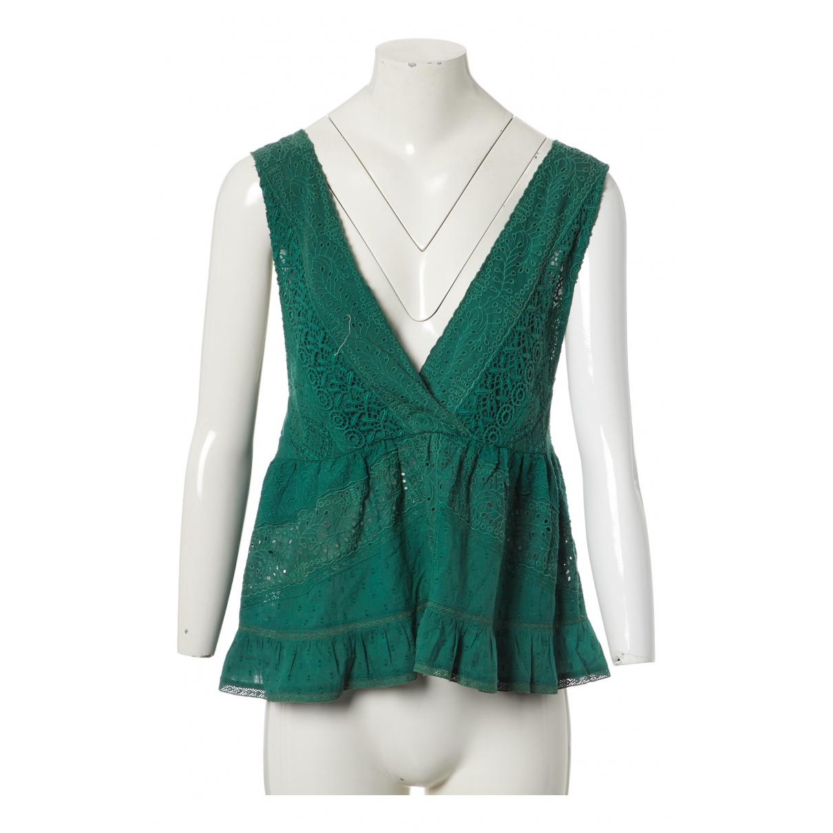 Ba&sh - Top   pour femme en coton - vert