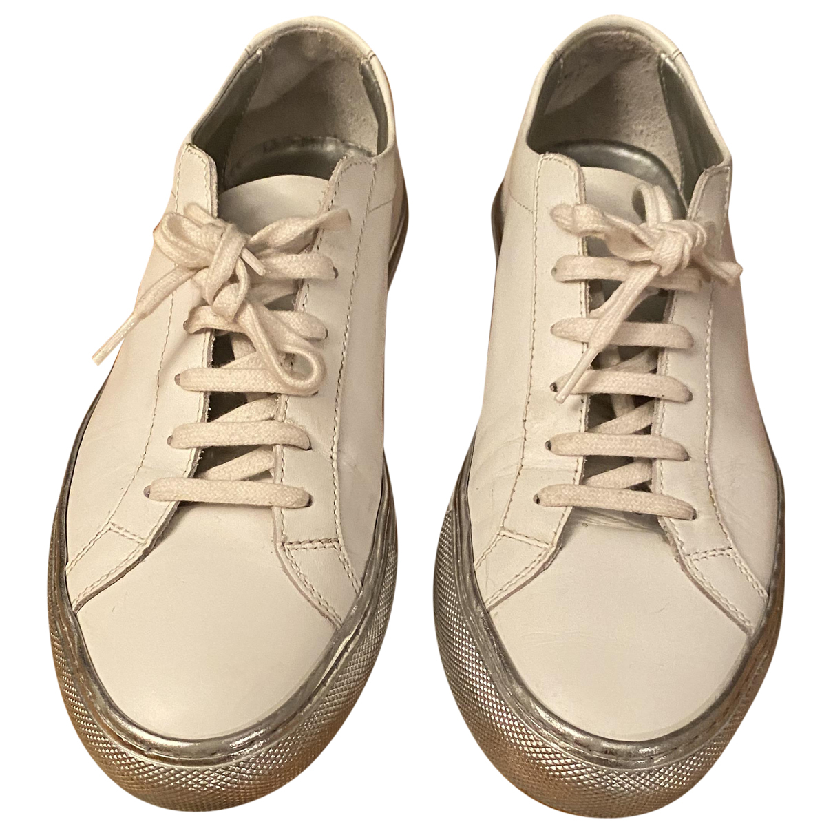 Common Projects \N White Leather Trainers for Women 38 EU