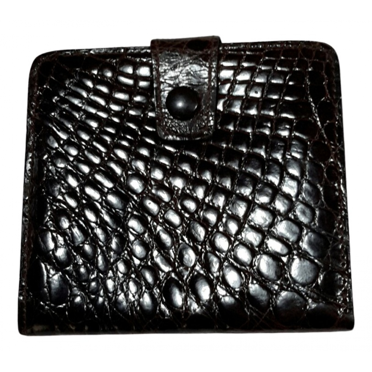 Non Signé / Unsigned N Brown Crocodile Small bag, wallet & cases for Men N