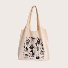 Figure Graphic Tote Bag