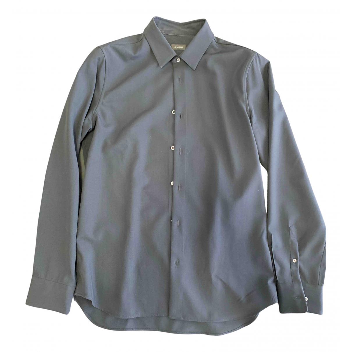 Jil Sander - Chemises   pour homme en laine - noir