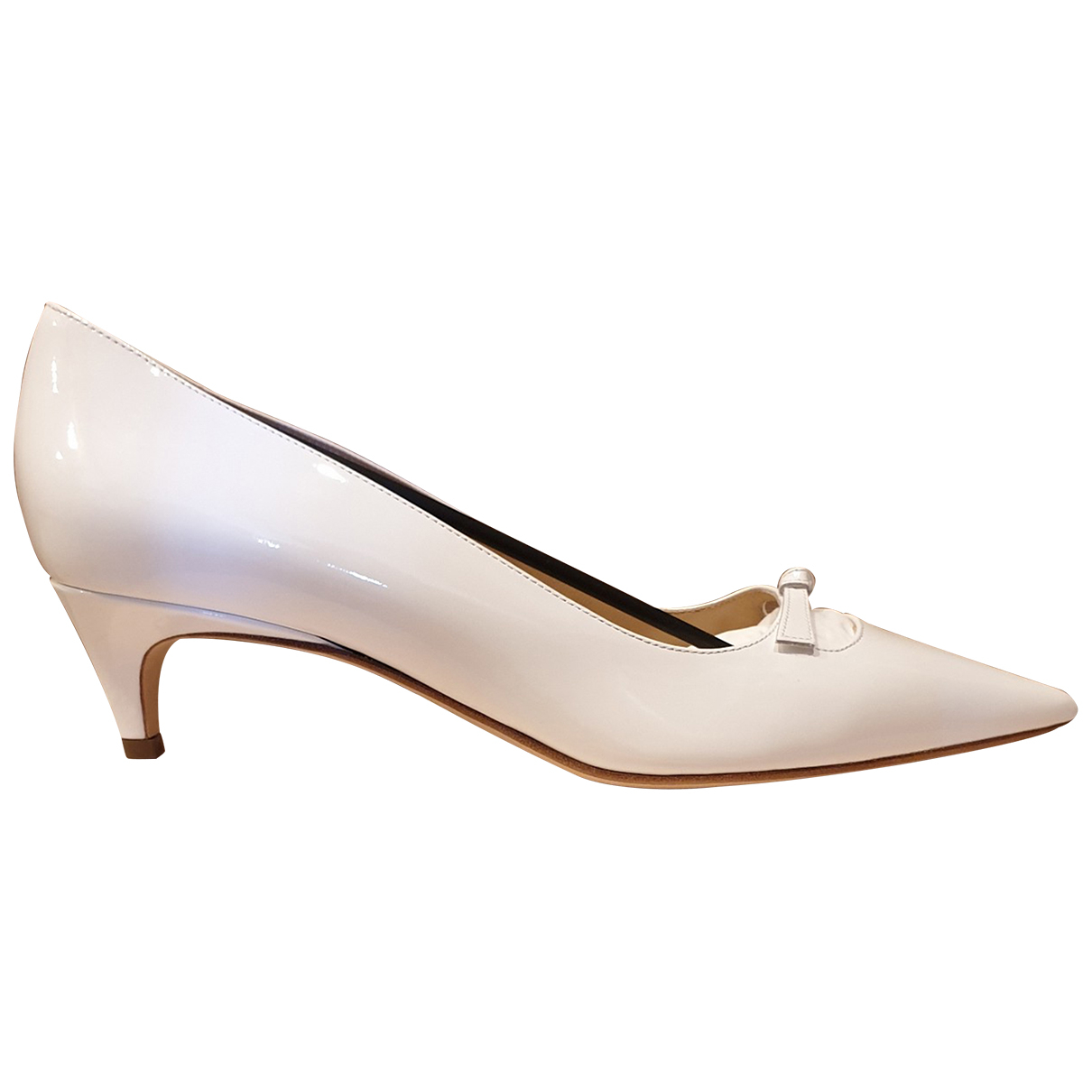 Sergio Rossi \N White Patent leather Heels for Women 41 IT