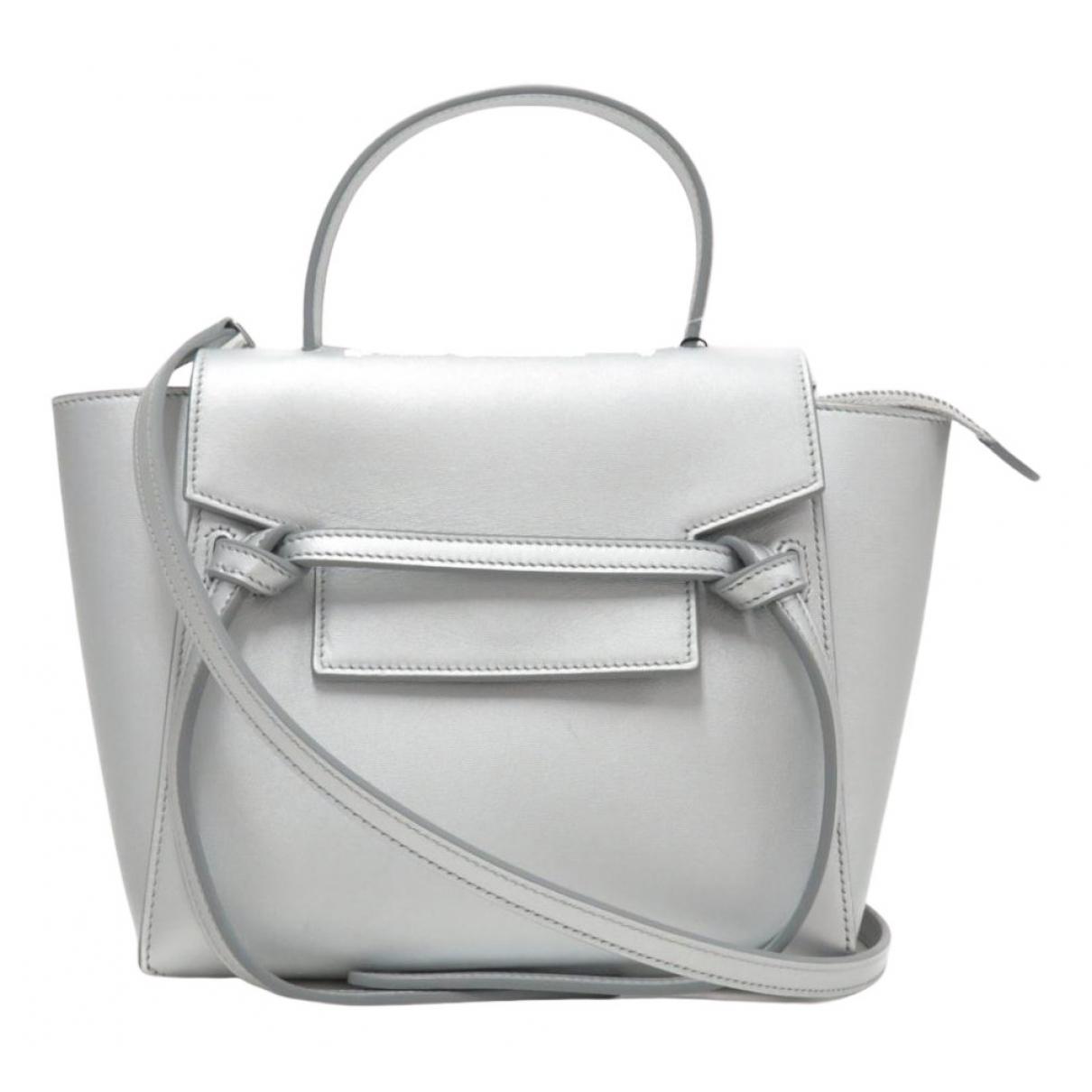 Celine Belt Handtasche in  Silber Leder
