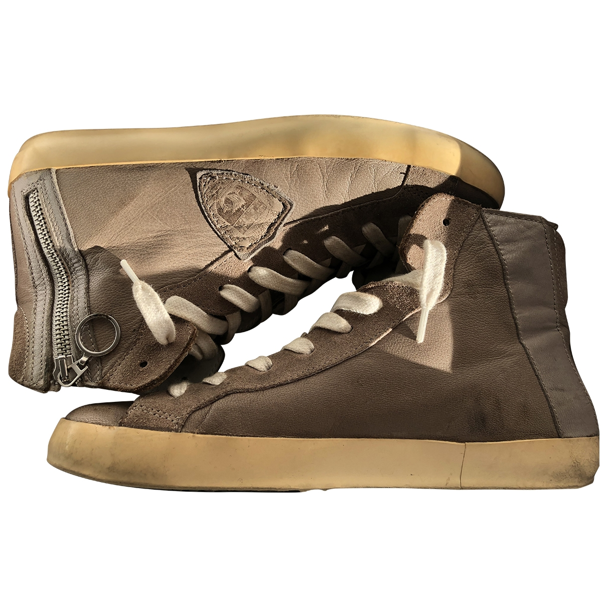 Philippe Model \N Beige Leather Trainers for Women 39 EU