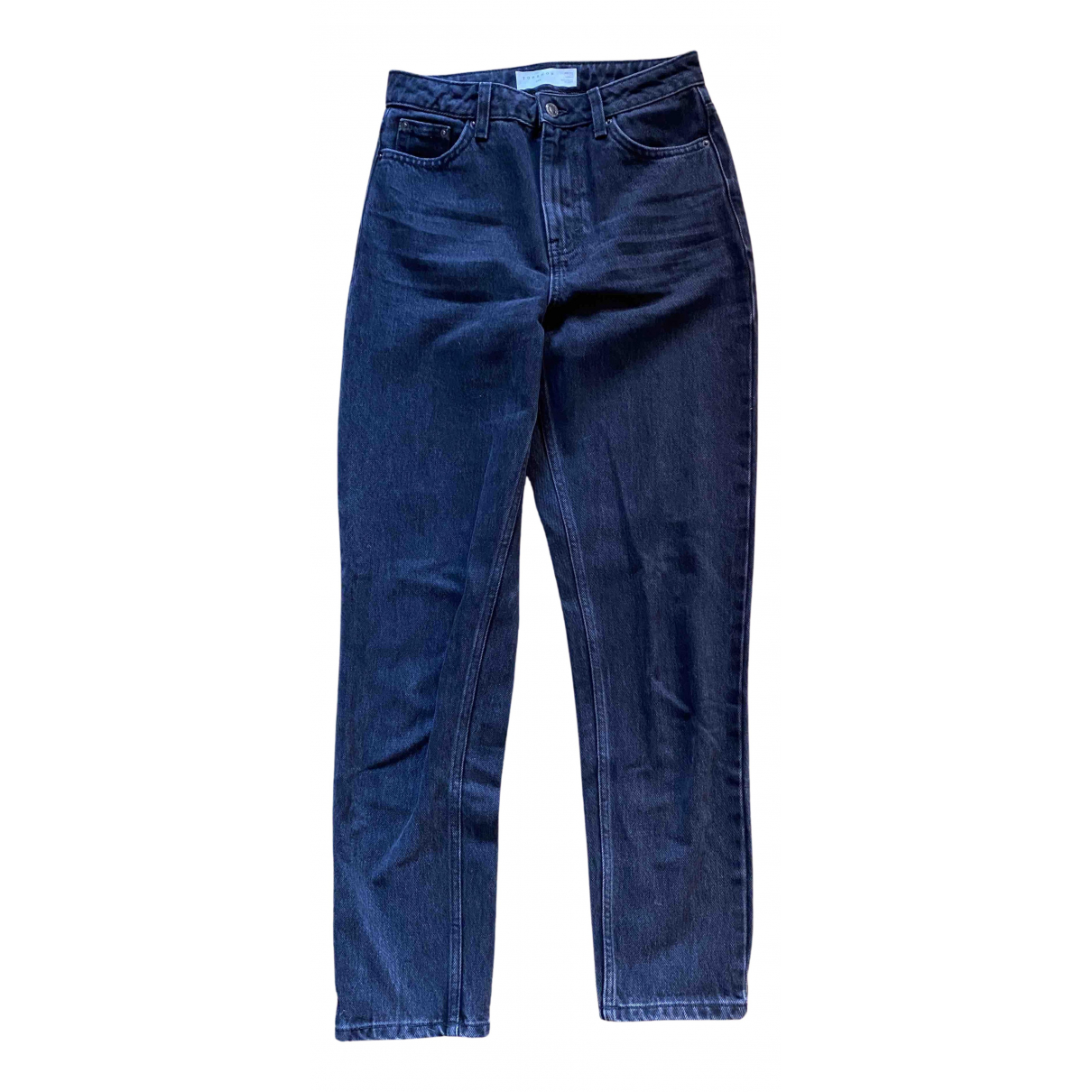 Topshop - Jean   pour femme en coton - noir