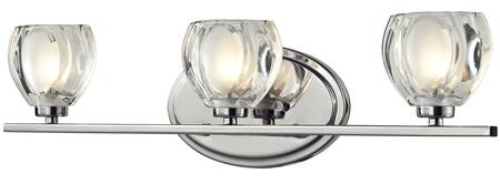 Hale 3023-3V 21 3 Light Vanity Light Coastal  Nautical  Seasidehave Steel Frame with Chrome  finish in Clear and