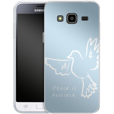 Samsung Galaxy J3 (2016) Silikon Handyhuelle - Peace is Possible von caseable Designs