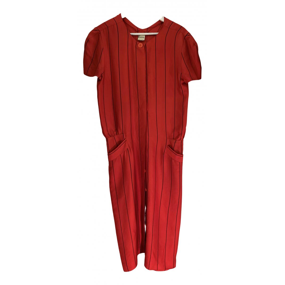 Krizia \N Kleid in  Rot Seide
