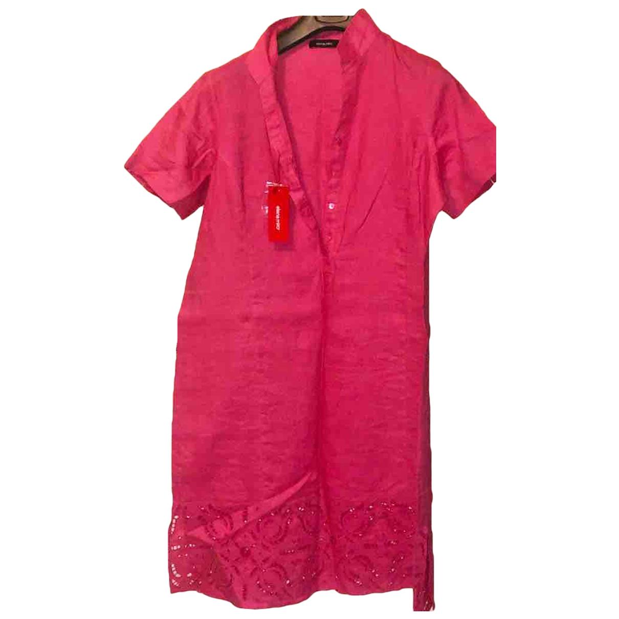 Elena Miro \N Red Linen dress for Women 42 IT
