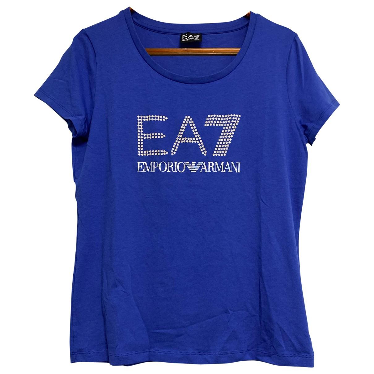 Emporio Armani N Blue Cotton  top for Women L International