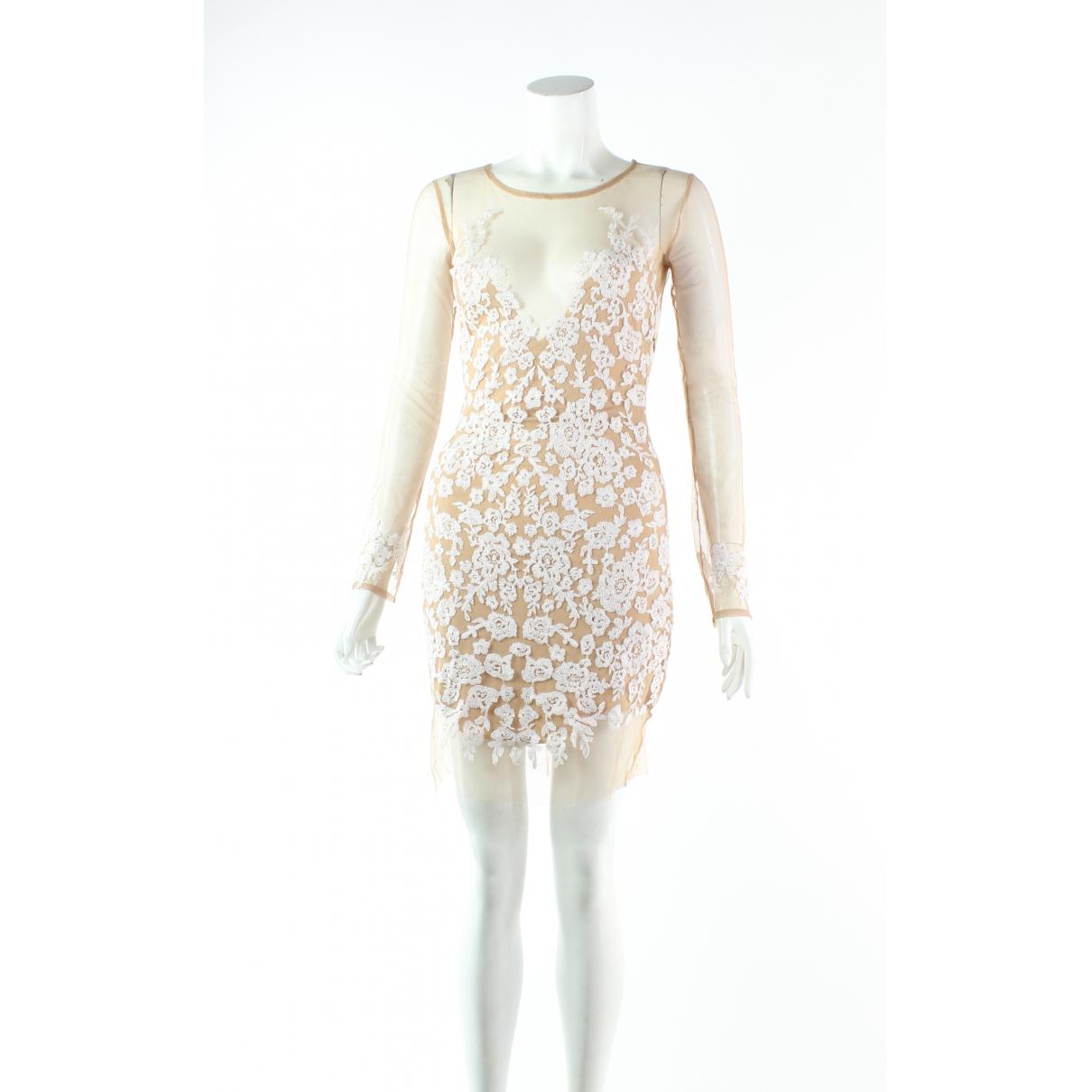 For Love & Lemons \N Kleid in  Braun Polyester