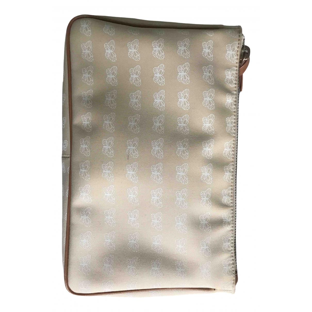 Bottega Veneta N Beige Cotton Clutch bag for Women N