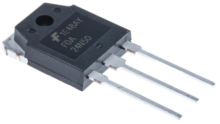 ON Semiconductor N-Channel MOSFET, 24 A, 500 V, 2-Pin TO-3PN  FDA24N50 (2)