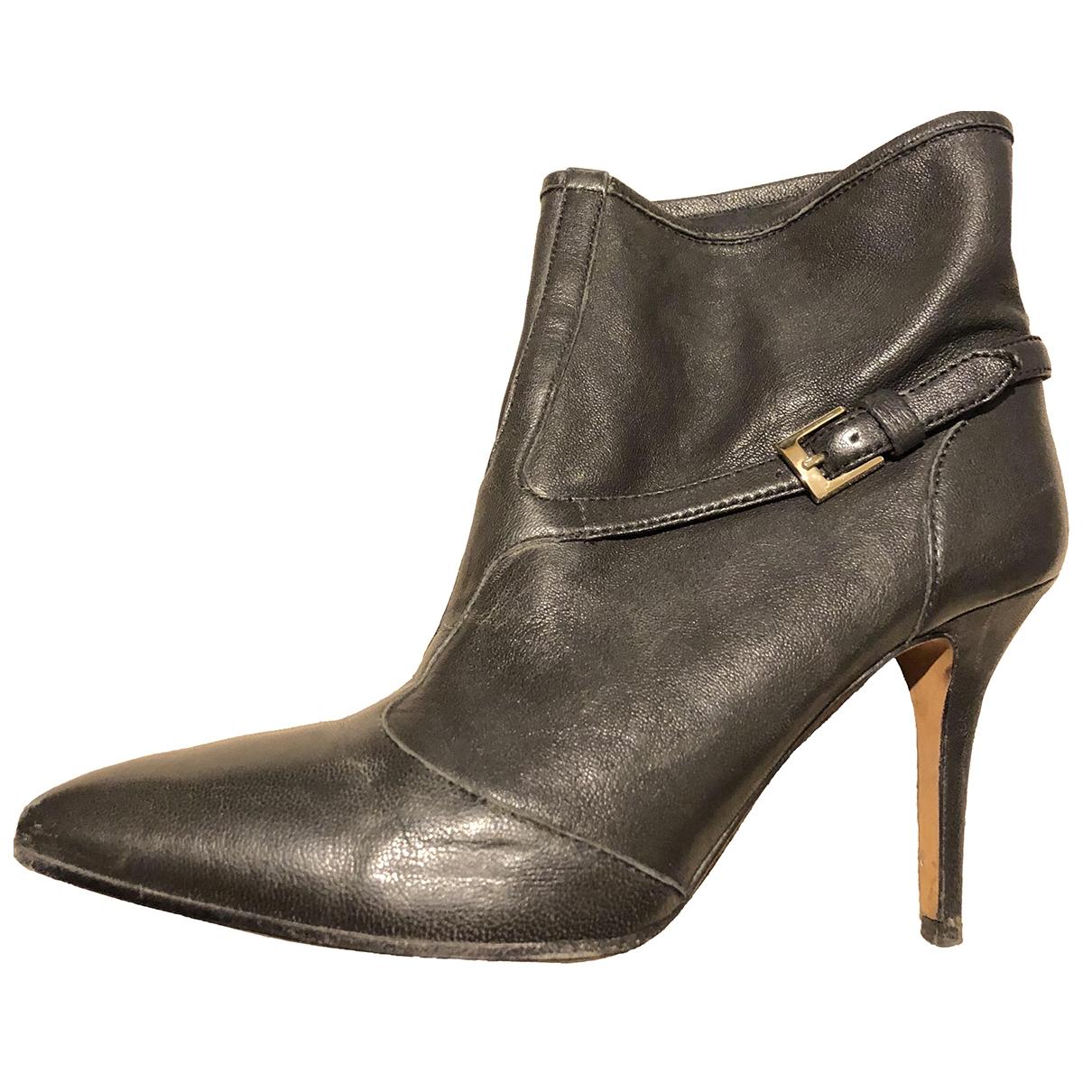 Boss Orange - Bottes   pour femme en cuir - noir