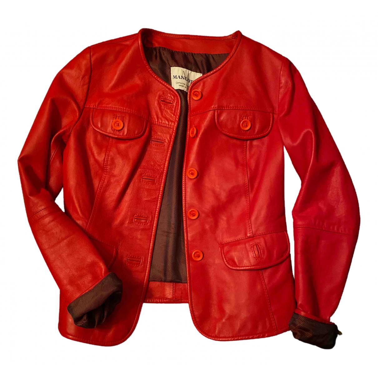 Non Signe / Unsigned \N Jacke in  Rot Leder