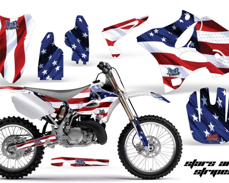 AMR Racing Dirt Bike Graphics Kit Decal Wrap for Yamaha YZ125 YZ250 2002-2014áUSA FLAG