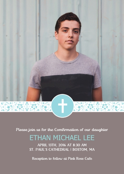 Confirmation 5x7 Cards, Premium Cardstock 120lb, Card & Stationery -The Cross Community