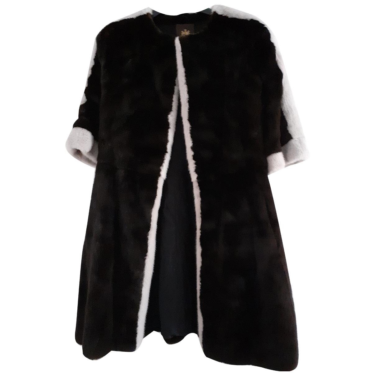 Braschi - Manteau   pour femme en vison - marron