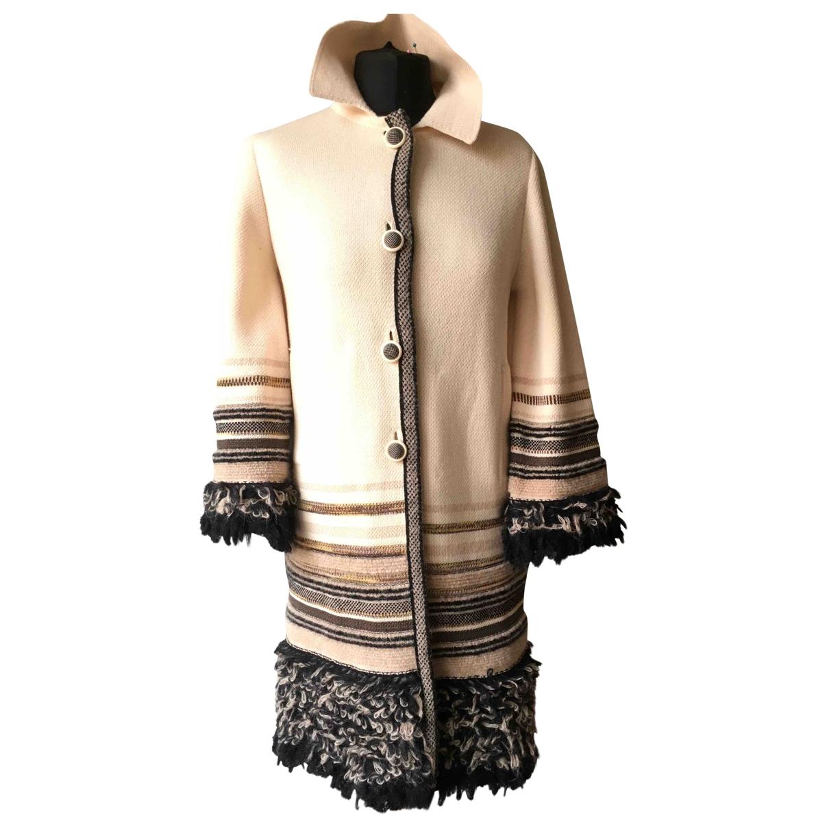 M Missoni - Manteau   pour femme en laine - beige