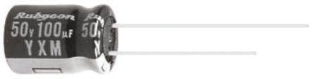 Rubycon 33μF Electrolytic Capacitor 63V dc, Through Hole - 63YXM33MEFCT16.3X11 (25)