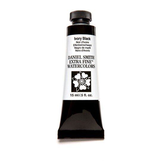 Daniel Smith Extra Fine™ Watercolor, 15 ml Paint in Ivory Black | Michaels®