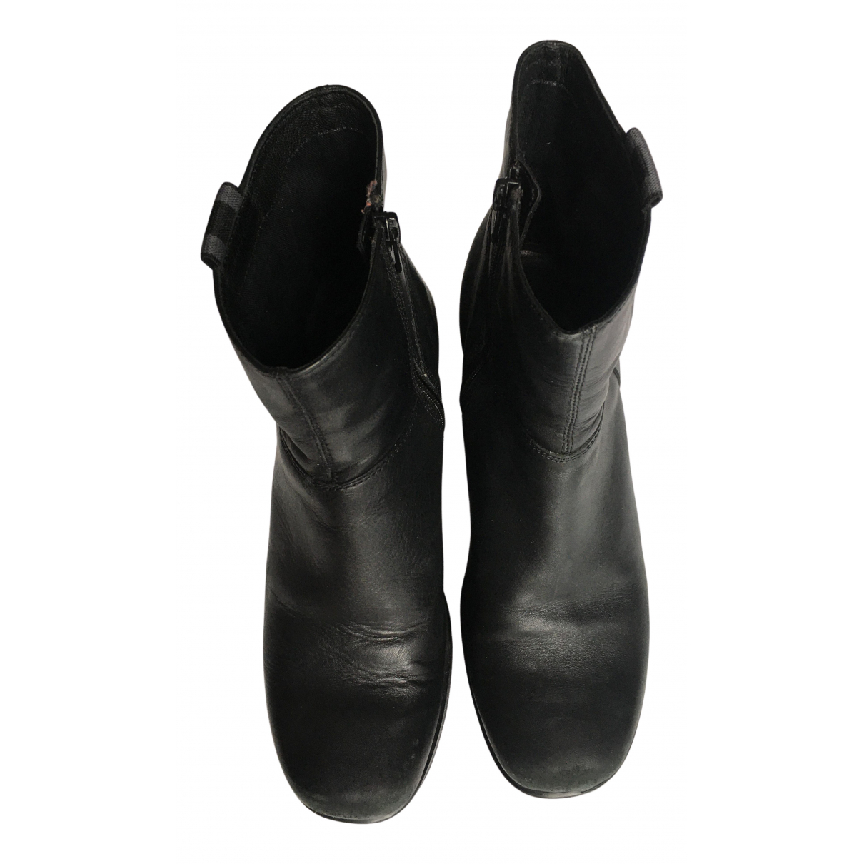 Vagabond - Boots   pour femme en cuir - noir
