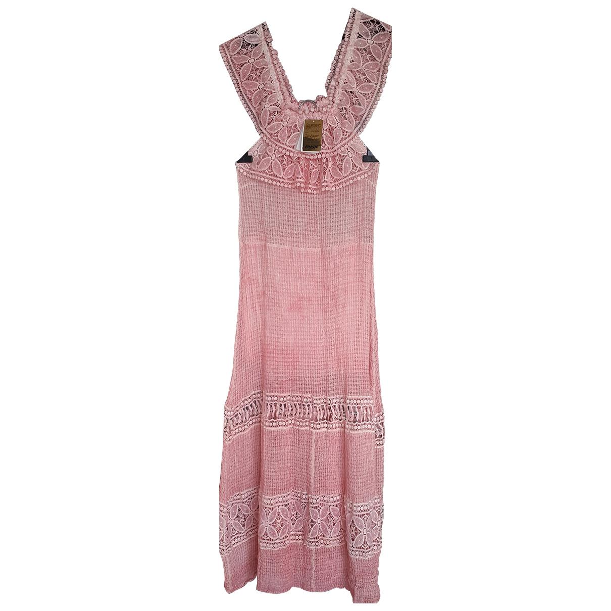 - Robe   pour femme en dentelle - rose